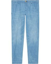 Gucci - Bleached Denim Chino - Lyst