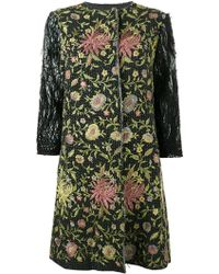 By Walid - Floral Embroidered Coat - Lyst