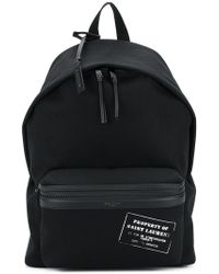 Saint Laurent | Property Patch Backpack | Lyst
