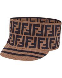 Fendi - Knit Logo Wide Band Cap - Lyst
