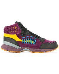 Kolor - Panelled Colour Block Sneakers - Lyst