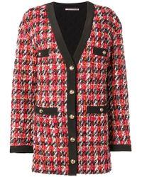 Alessandra Rich - Long Tweed Jacket - Lyst
