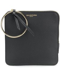Sara Battaglia - Embossed Logo Clutch Bag - Lyst