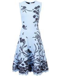 Carolina Herrera - Kleid mit Blumenstickerei - Lyst