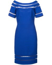 Tadashi Shoji - Ribbed Fitted Dress - Lyst