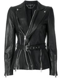 Alexander McQueen - Belted Biker Jacket - Lyst