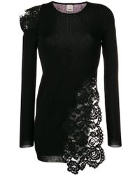 Pinko - Lace-panelled Sweater - Lyst