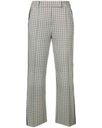 Tory Burch - Check Pattern Cropped Trousers - Lyst