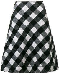 Peter Jensen - A-line Check Skirt - Lyst