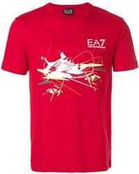 EA7 | Trainer Logo Print T-shirt | Lyst