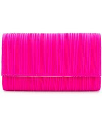 Casadei - Pleated Clutch Bag - Lyst