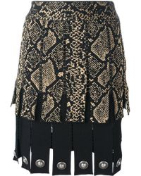 Fausto Puglisi - Snake Print Effect Pleated Skirt - Lyst