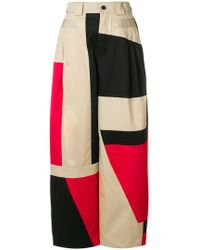 Koche - Printed Oversized Trousers - Lyst
