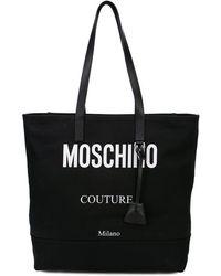 Moschino - Sac cabas à logo contrastant - Lyst