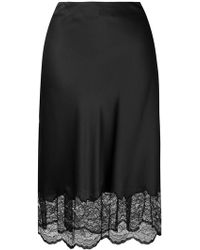Paco Rabanne - Lace Trim Skirt - Lyst