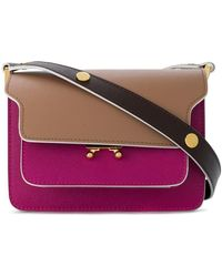 3e2db5a315c Lyst - Marni Metal Trunk Small Leather Shoulder Bag in Red