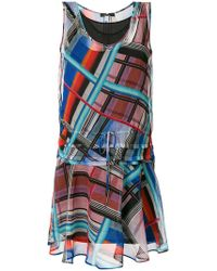 PS by Paul Smith - Short Printed Dress - Lyst