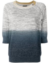 Zadig & Voltaire - Ombre Cropped Sweater - Lyst