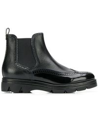 Santoni - Derby Style Boots - Lyst