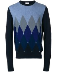 Ballantyne - Argyle Knit Sweater - Lyst