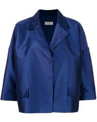 Alberto Biani - Oversized Cropped Jacket - Lyst