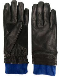 AMI - Contrast Cuff Gloves - Lyst