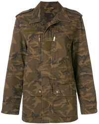 Saint Laurent - Camouflage Print Military Jacket - Lyst
