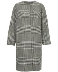 DES PRÉS - Checked Single Breasted Coat - Lyst