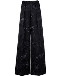 Christian Pellizzari - Floral Embroidered Trousers - Lyst