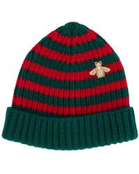 Gucci - Webbing Knitted Hat - Lyst