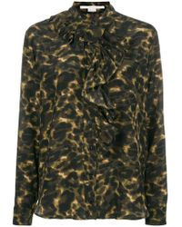 Stella McCartney - Leopard Print Blouse - Lyst