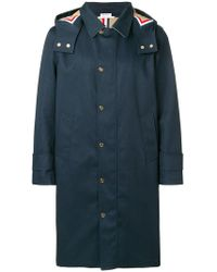 """Thom Browne - Detachable Hood Snap Front Parka (38"""") In Mackintosh - Lyst"""