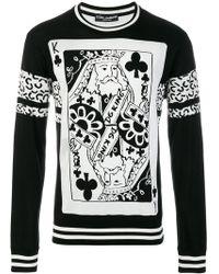 Dolce & Gabbana - King Of Clubs Jumper - Lyst