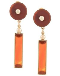 Crystalline - Long Agate Earrings - Lyst