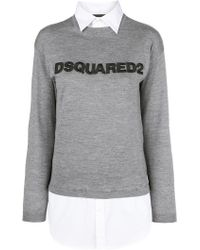 DSquared² - Shirt Effect Sweater - Lyst