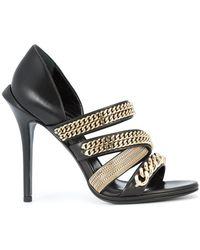 Roberto Cavalli - Gold-chain Strappy Sandals - Lyst