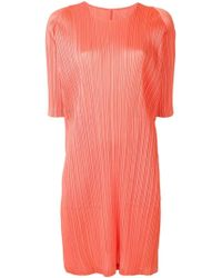 87e909620e8 Pleats Please Issey Miyake Light Pink Sleeveless Dress in Pink - Lyst