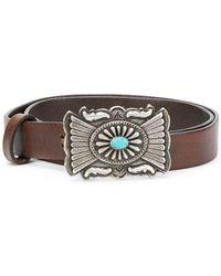 Polo Ralph Lauren - Embellished Buckle Belt - Lyst