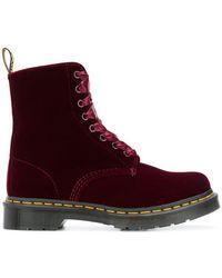 Dr. Martens - Velvet Ankle Boots - Lyst