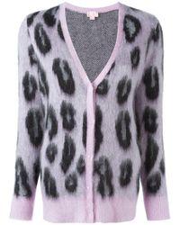 Giamba - Leopard Print Cardigan - Lyst