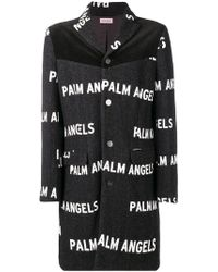 Palm Angels - All-over Logo Printed Coat - Lyst