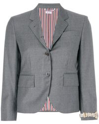 Thom Browne - Classic Single Breasted Sport Coat With Wristwatch Applique In Super 120's Twill - Lyst