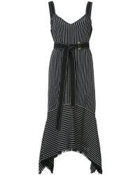 10 Crosby Derek Lam - V-neck Cami Dress With Tie Belt - Lyst