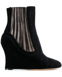 Alchimia Di Ballin | Metallic Panelled Wedge Ankle Boots | Lyst