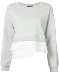 Boutique Moschino - Ruffle-trimmed Sweatshirt - Lyst