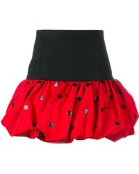 Saint Laurent | Polka Dot Mini Bubble Skirt | Lyst