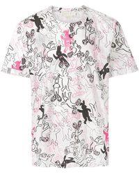Marni - Dance Bunny Print T-shirt - Lyst