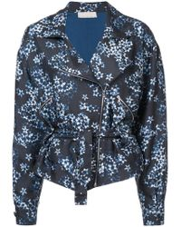 Fleur du Mal - Floral Zipped Jacket - Lyst