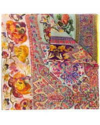 Etro - Multiple Floral Scarf - Lyst