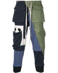 Greg Lauren Multi-pocket Pants - Blue